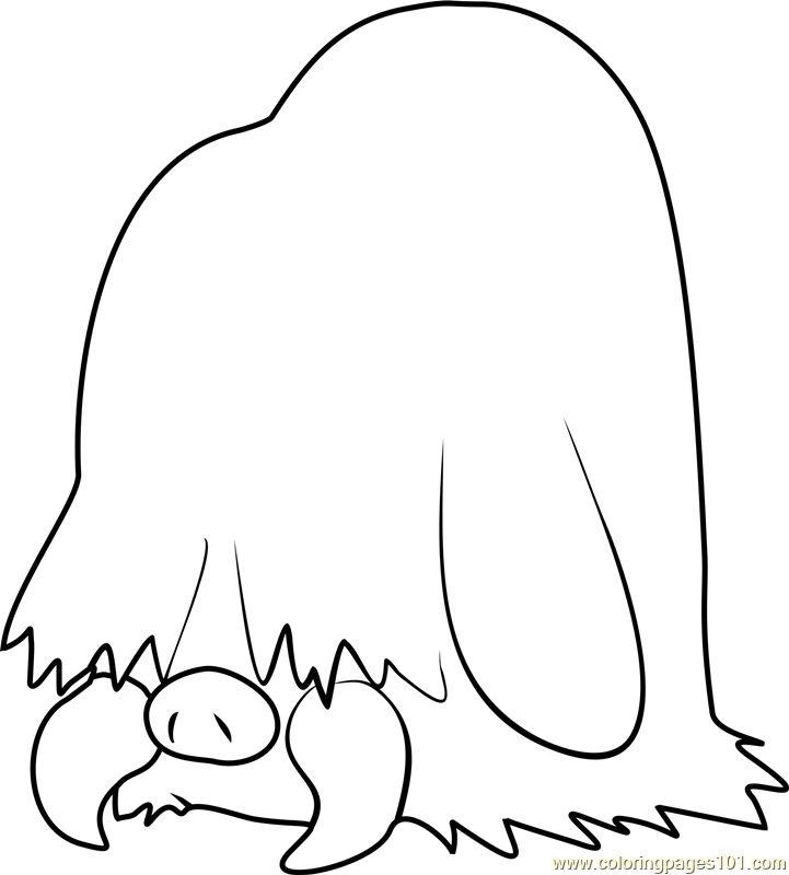 Piloswine Pokemon Coloring Page