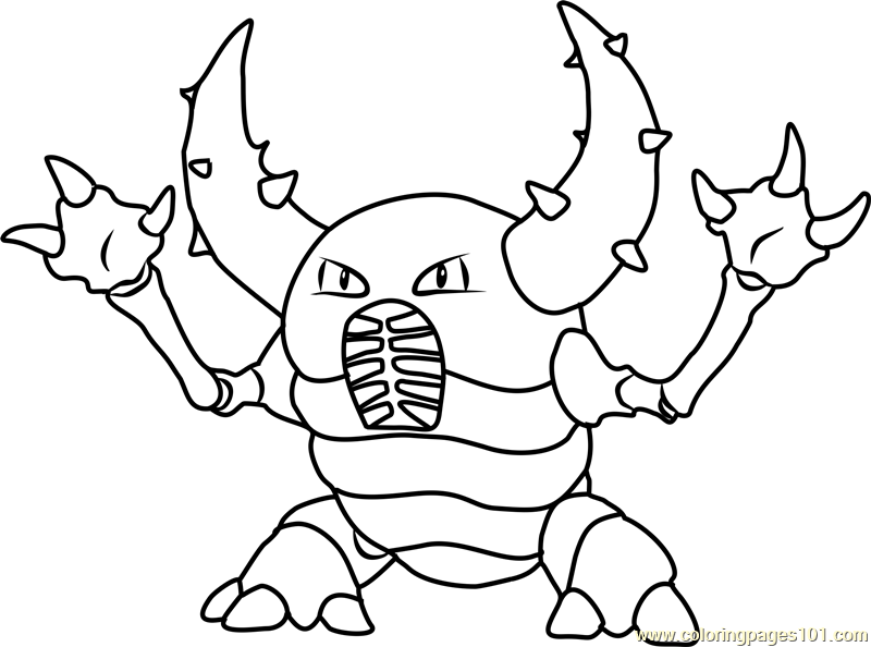 Pinsir Pokemon Coloring Page