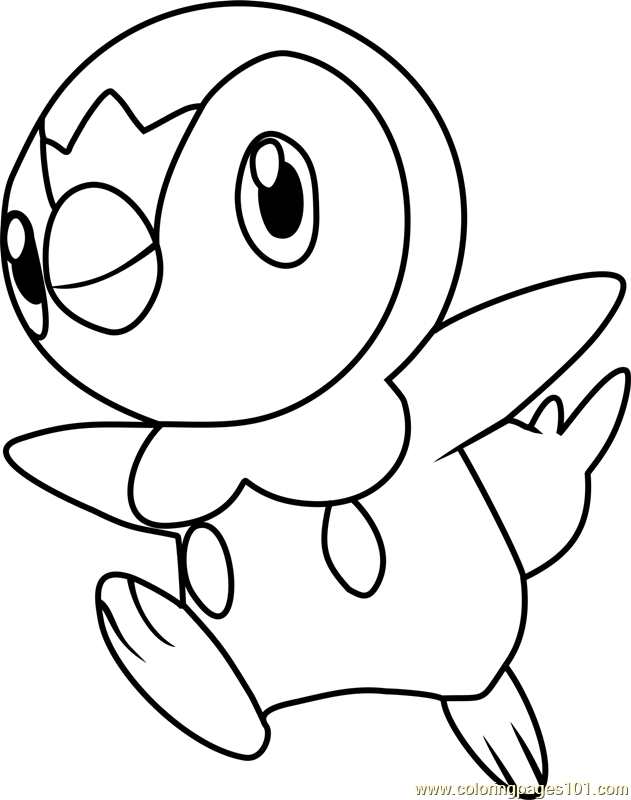 Piplup Pokemon Coloring Page