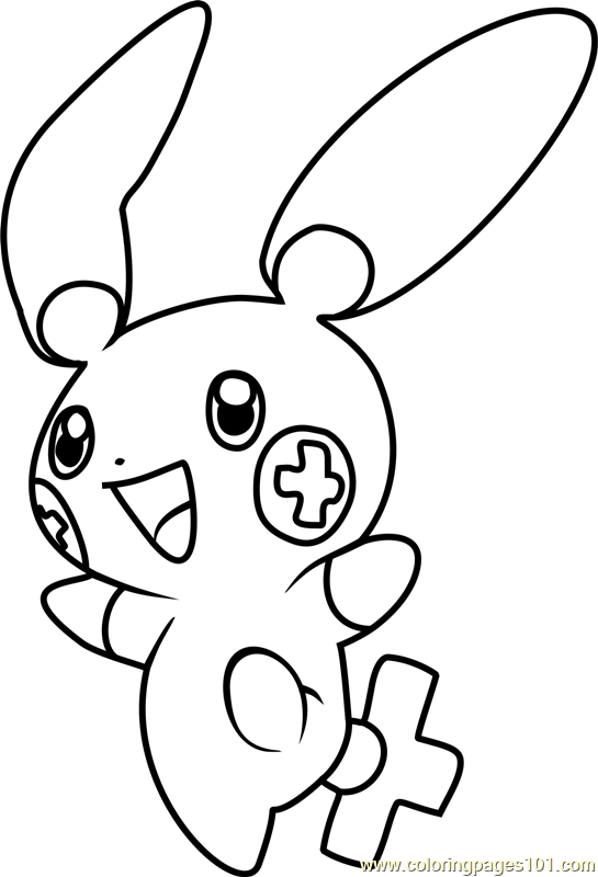 Plusle Pokemon Coloring Page
