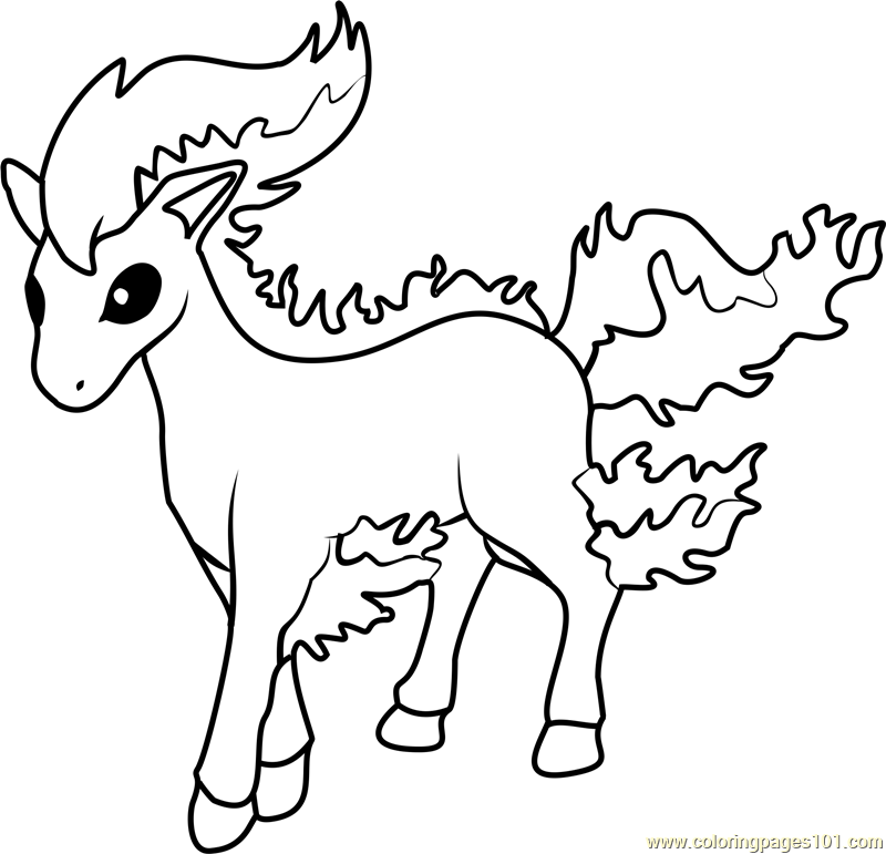 ponyta coloring page free pok 233 mon coloring pages