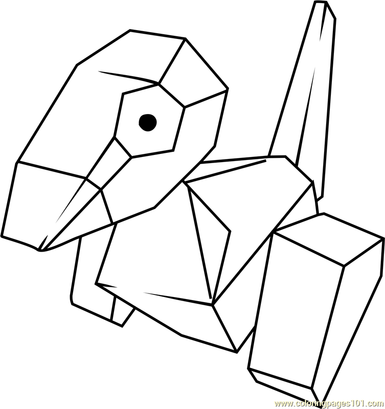 Porygon Pokemon Coloring Page