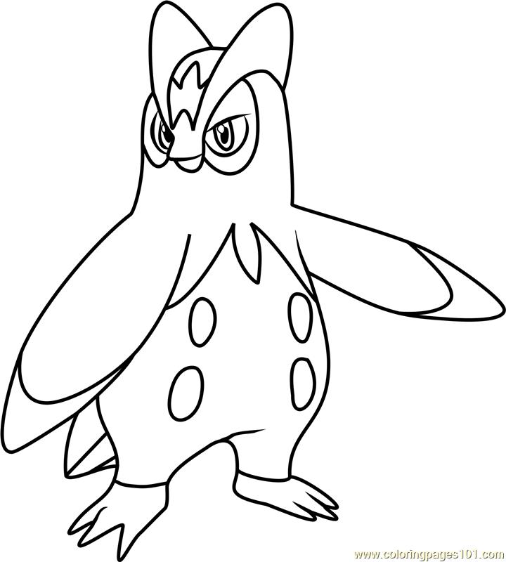 Prinplup Pokemon Coloring Page - Free Pokémon Coloring ...