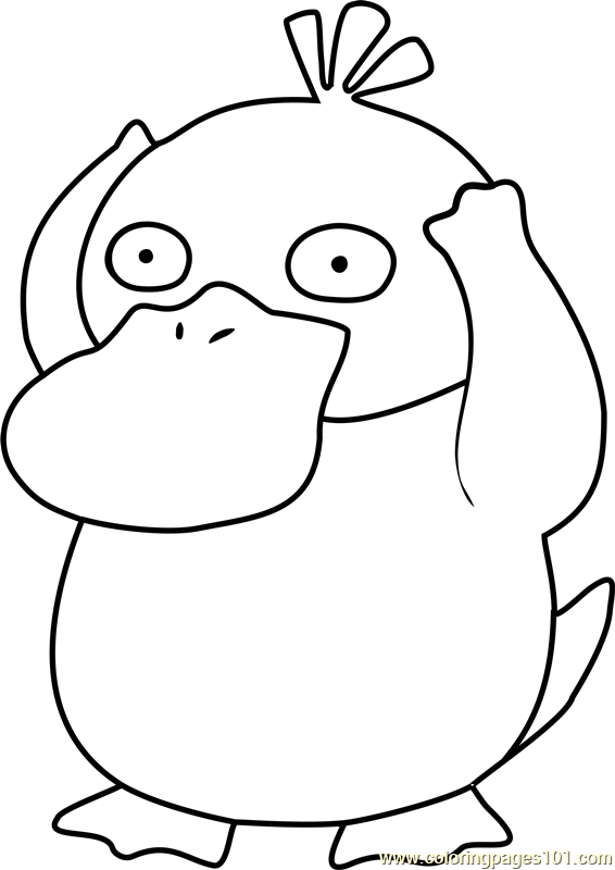 Psyduck Pokemon Coloring Pages Sketch Coloring Page