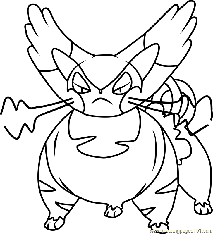 Purugly Pokemon Coloring Page