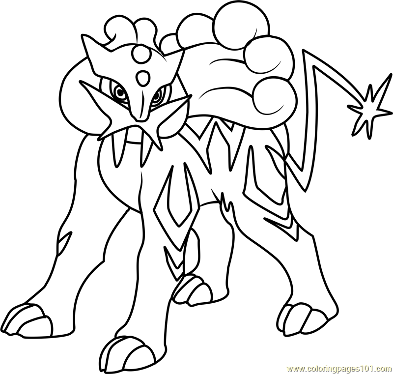 Raikou Pokemon Coloring Page Free Pok mon Coloring Pages