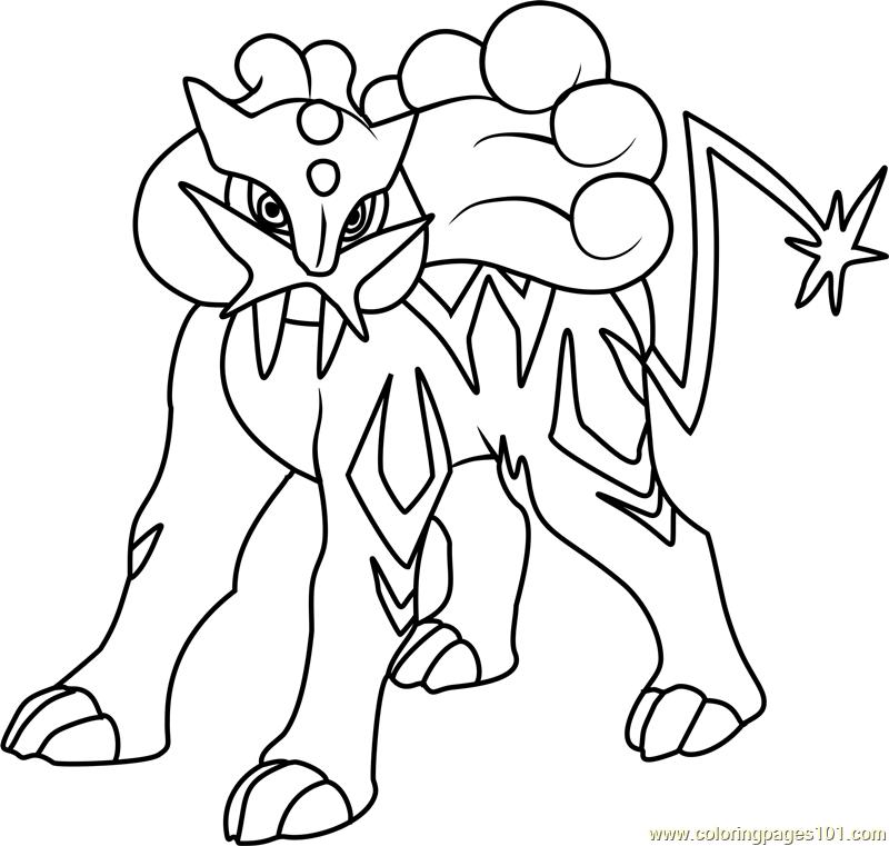 raikou pokemon coloring page - free pokémon coloring pages