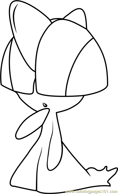 Ralts Pokemon Coloring Page - Free Pokémon Coloring Pages