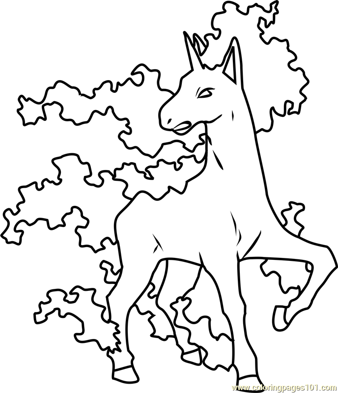 Rapidash Pokemon Coloring Page