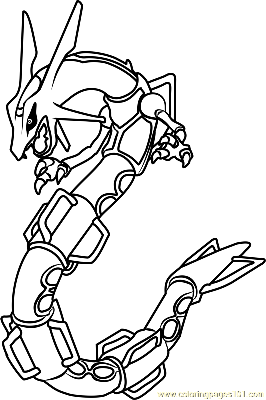 Rayquaza Pokemon Coloring Page Free Pokemon Coloring Pages Coloringpages101 Com