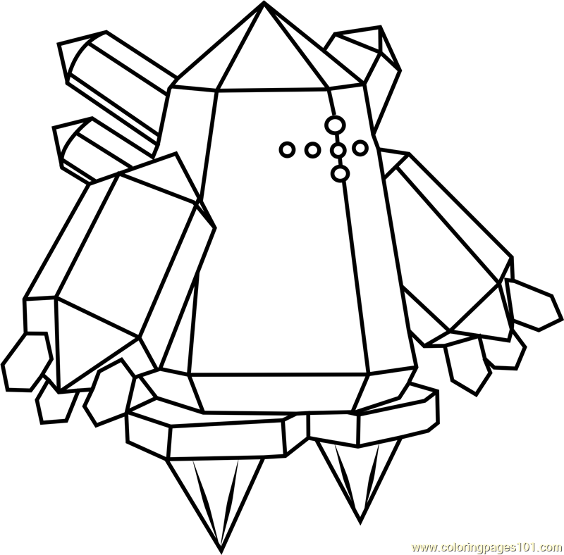 Regice Pokemon Coloring Page