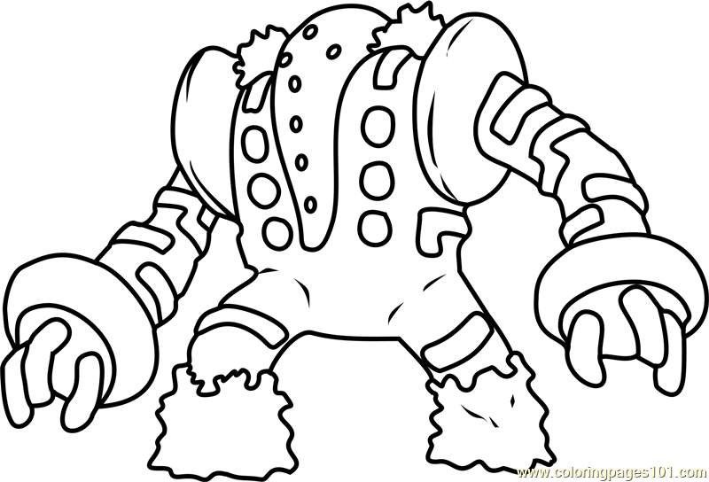 Regigigas Pokemon Coloring Page