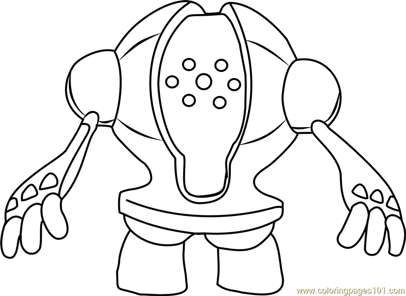 Pokemon Regirock Coloring Pages