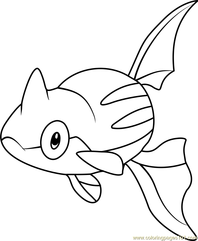 Remoraid Pokemon Coloring Page Free Pok 233 Mon Coloring
