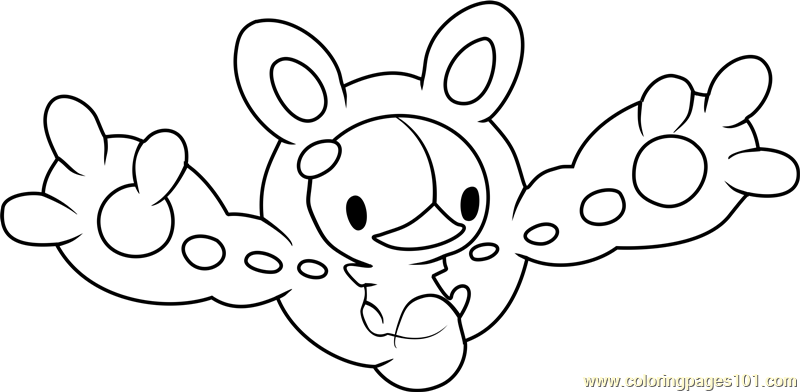 reuniclus pokemon coloring page