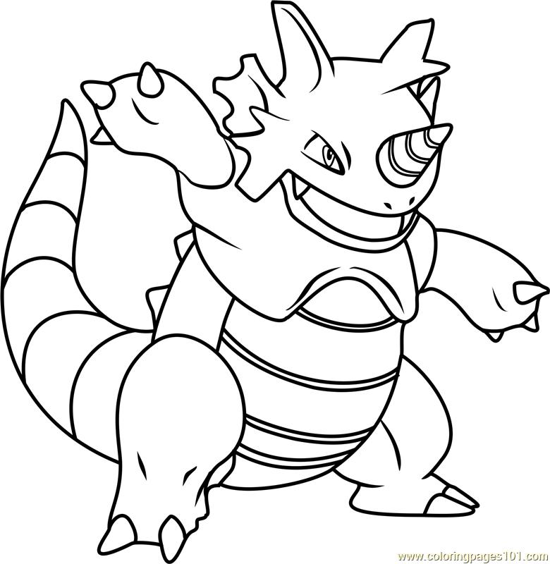 Rhydon Pokemon Coloring Page