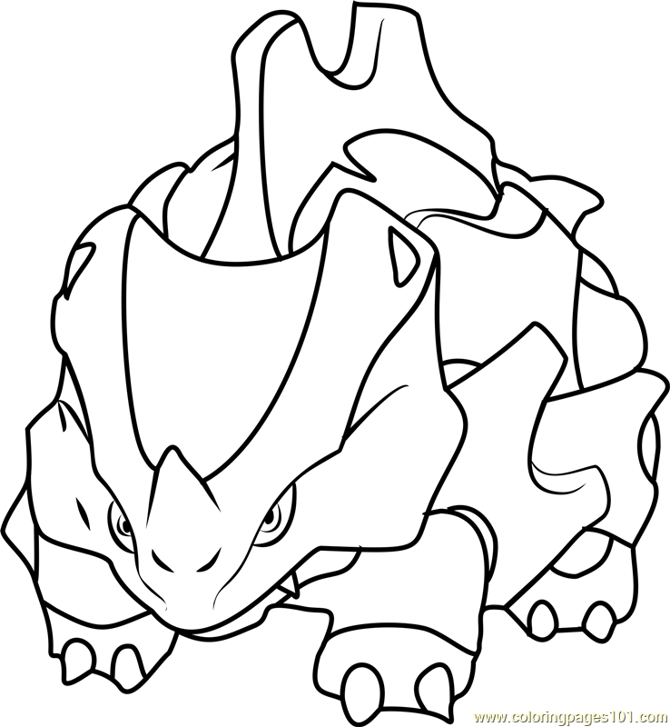 Rhyhorn Pokemon Coloring Page