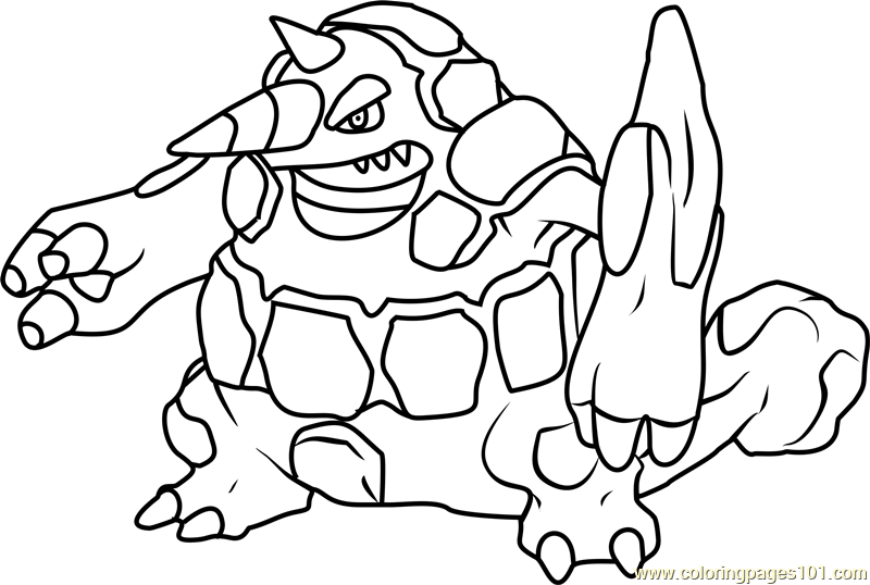 Rhyperior Pokemon Coloring Page