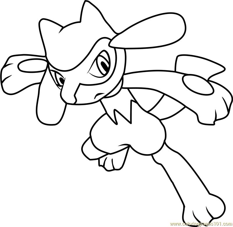 riolu pokemon coloring pages - photo#2