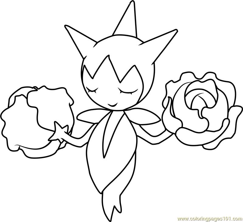 Roselia Pokemon Coloring Page