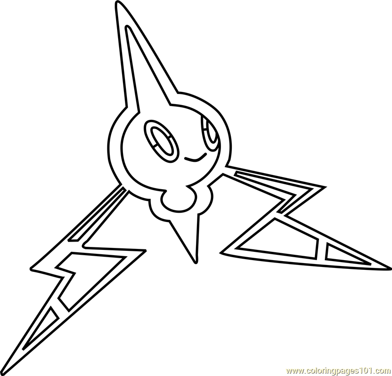 Rotom Pokemon Coloring Page Free