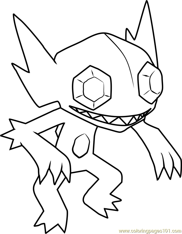 Sableye Pokemon Coloring Page For Kids Free Pokemon Printable Coloring Pages Online For Kids Coloringpages101 Com Coloring Pages For Kids