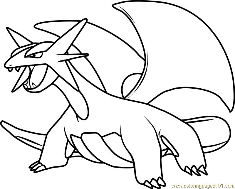Salamence Pokemon Coloring Page
