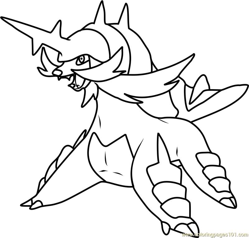 Samurott Pokemon Coloring Page
