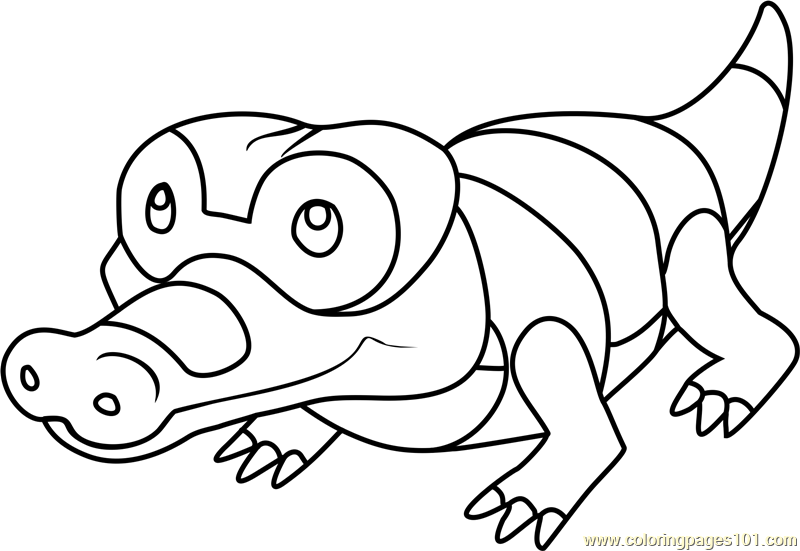 Sandile Pokemon Coloring Page