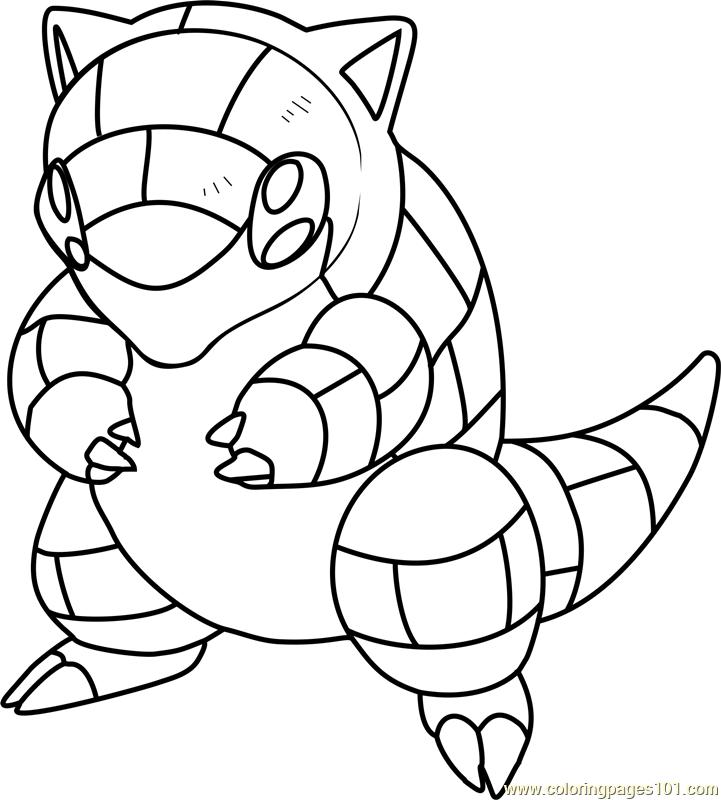 Sandshrew Pokemon Coloring Page Free Pokemon Coloring Pages Coloringpages101 Com