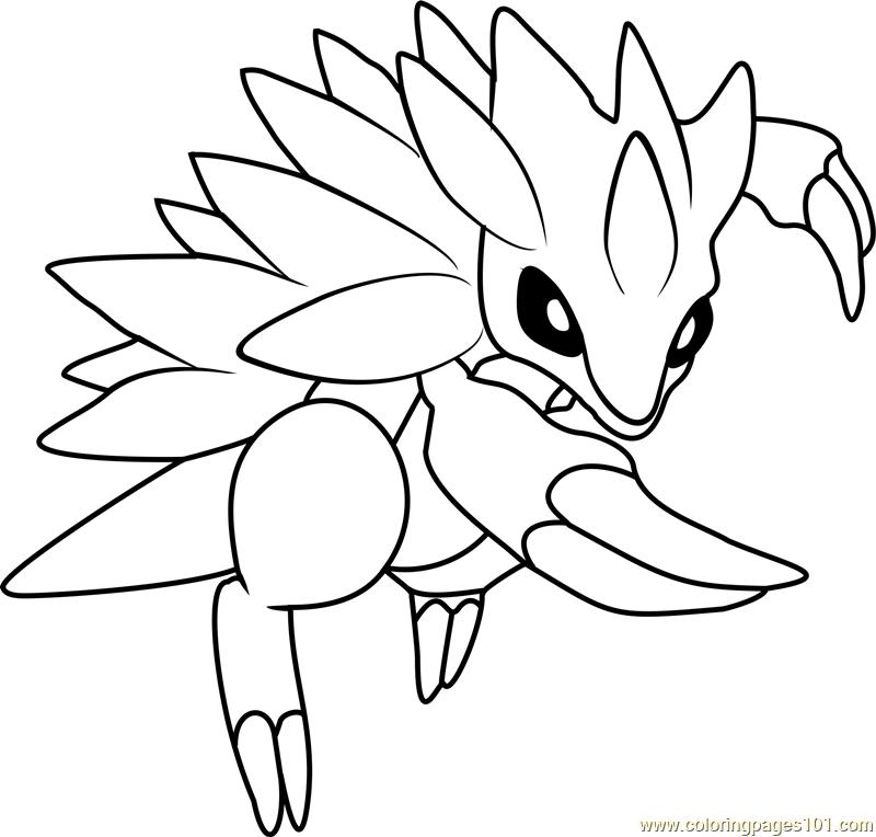 Sandslash Pokemon Coloring Page For Kids Free Pokemon Printable Coloring Pages Online For Kids Coloringpages101 Com Coloring Pages For Kids