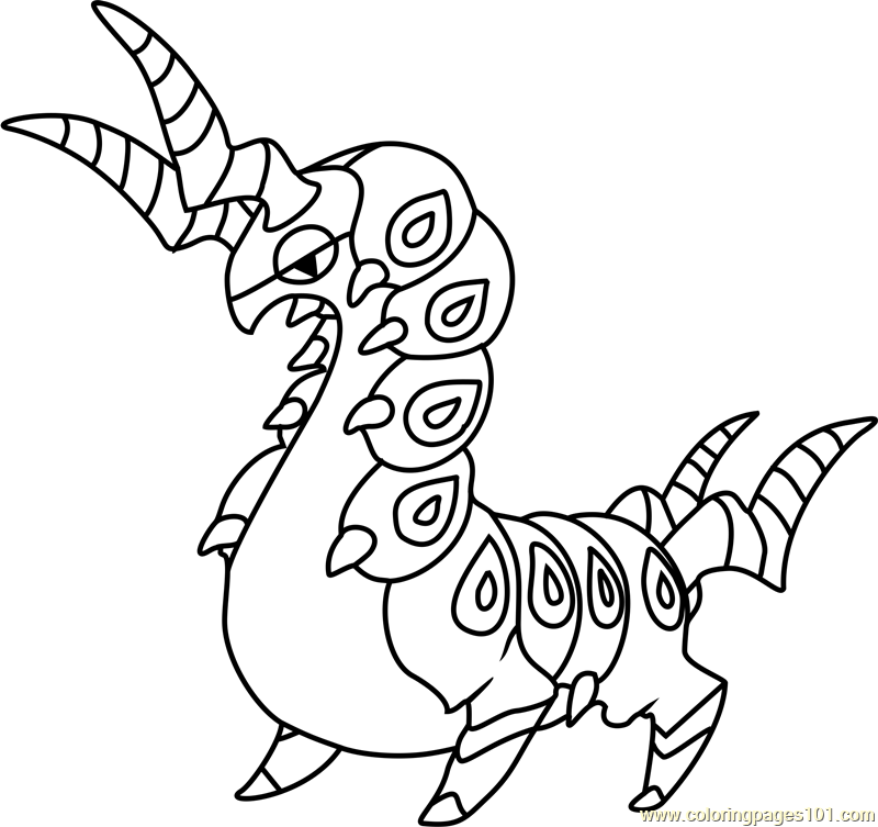 Scolipede Pokemon Coloring Page