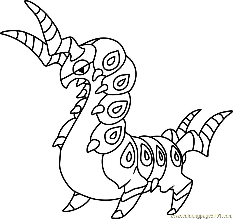 Scolipede Pokemon Coloring Page