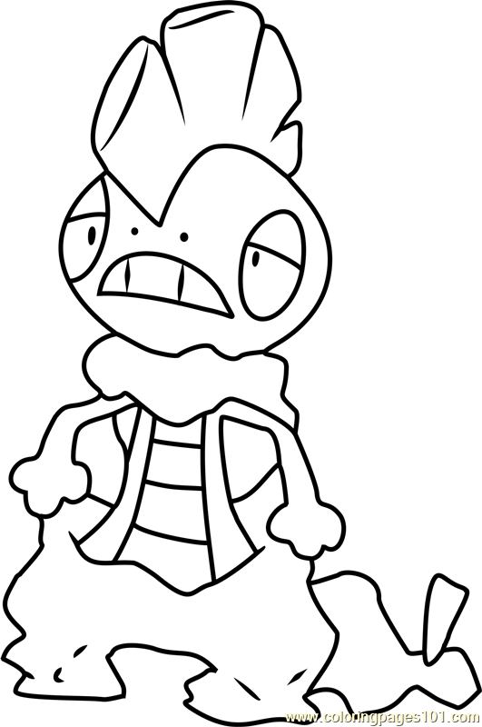 Scrafty Pokemon Coloring Page Free Pok 233 Mon Coloring