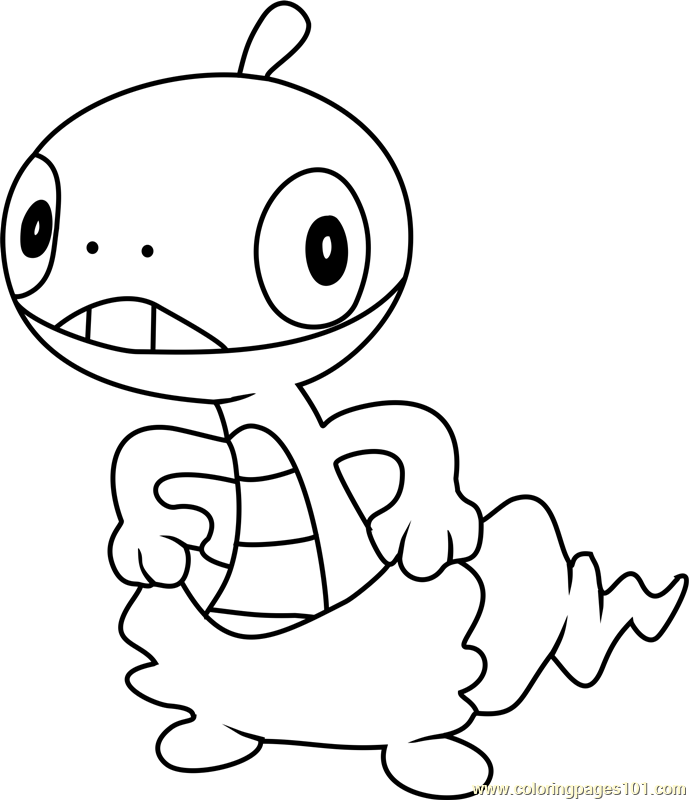 Scraggy Pokemon Coloring Page