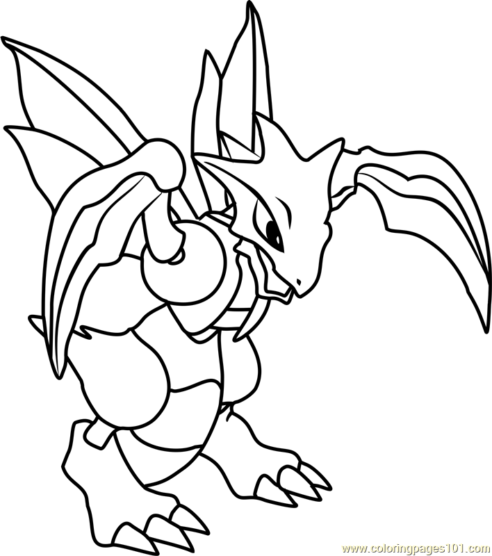 Scyther Pokemon Coloring Page Free Pok 233 Mon Coloring