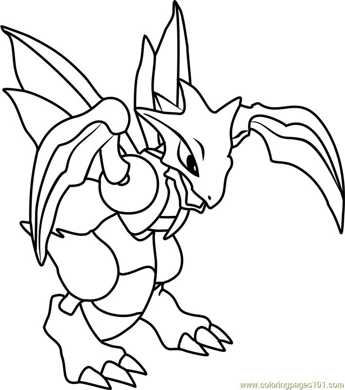 Scyther Pokemon Coloring Page - Free Pokémon Coloring ...