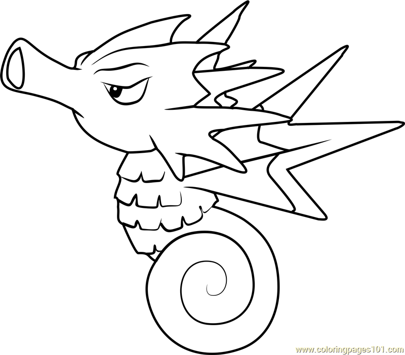 Horsea Pokemon Coloring Pages Images