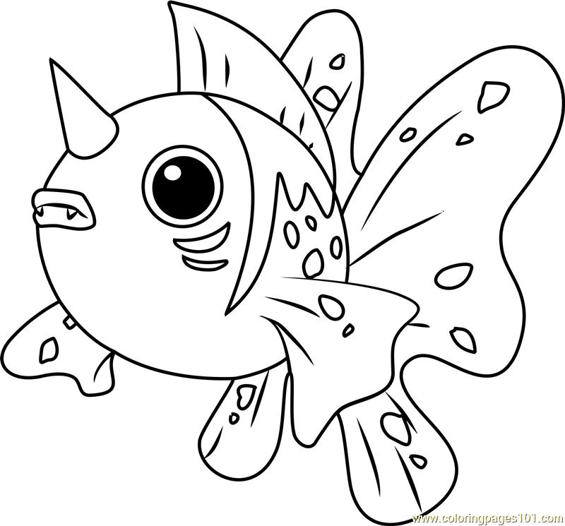 Seaking Pokemon Coloring Page