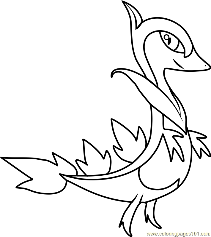 Servine Pokemon Coloring Page