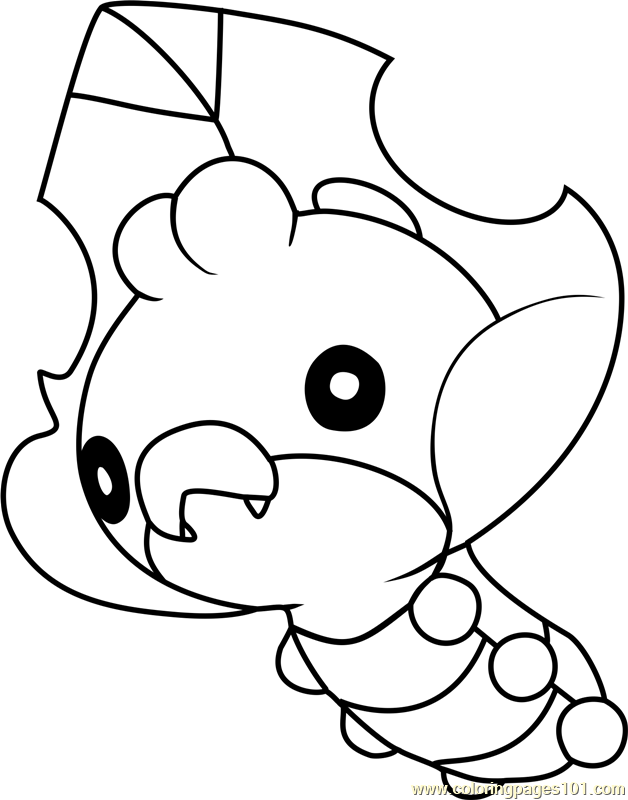 Sewaddle Pokemon Coloring Page - Free Pokémon Coloring Pages ...