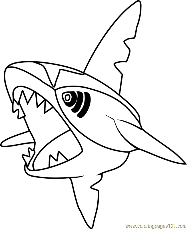 Sharpedo Pokemon Coloring Page Free Pokmon Coloring Pages