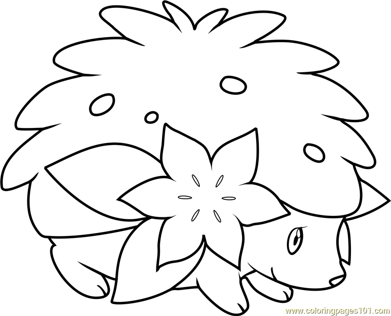 shaymin pokemon coloring page