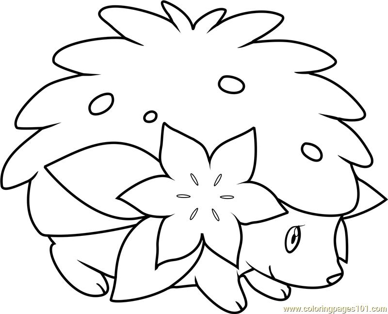 Shaymin Pokemon Coloring Page