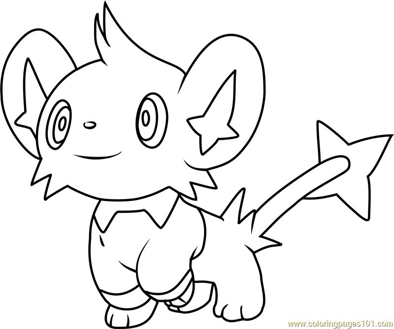 pokemon coloring pages shinx nicknames | Shinx Pokemon Coloring Page - Free Pokémon Coloring Pages ...