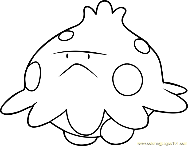Shroomish Pokemon Coloring Page Free Pok 233 Mon Coloring