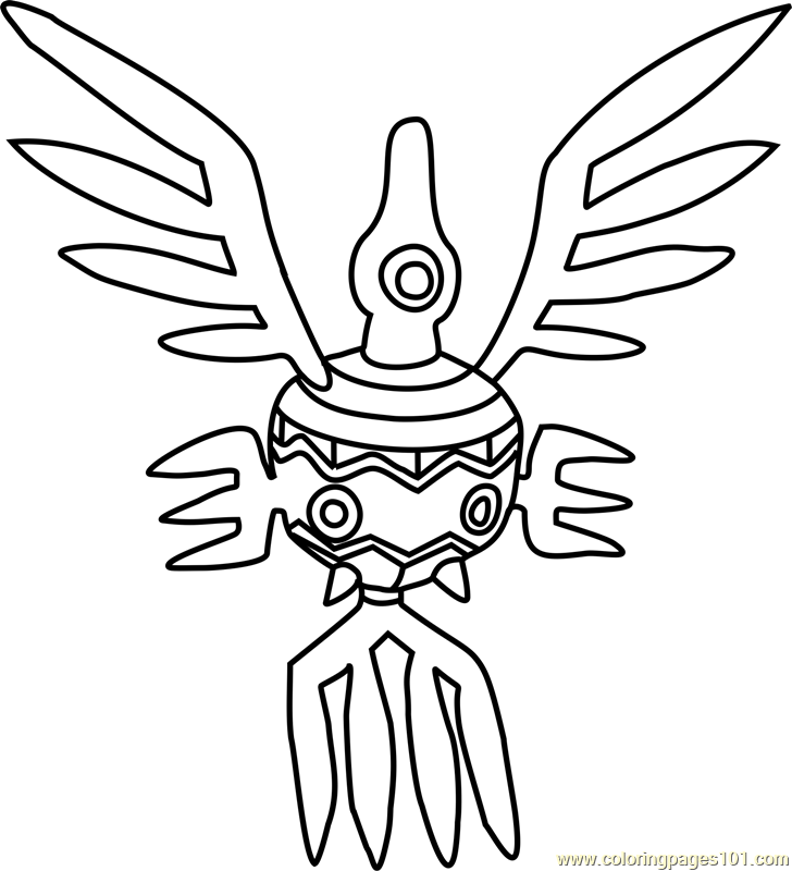 Sigilyph Pokemon Coloring Page