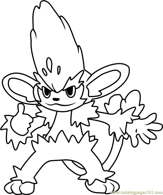 Pokemon Oshawott Coloring Pages. Simisage Pokemon Coloring Page  Free Pok mon Pages