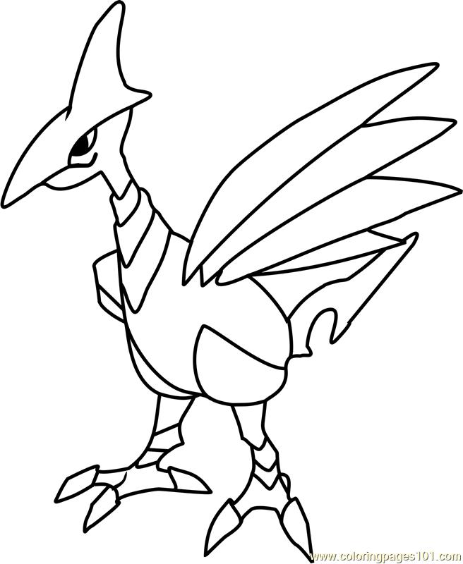 Skarmory Pokemon Coloring Page Free Pok 233 Mon Coloring