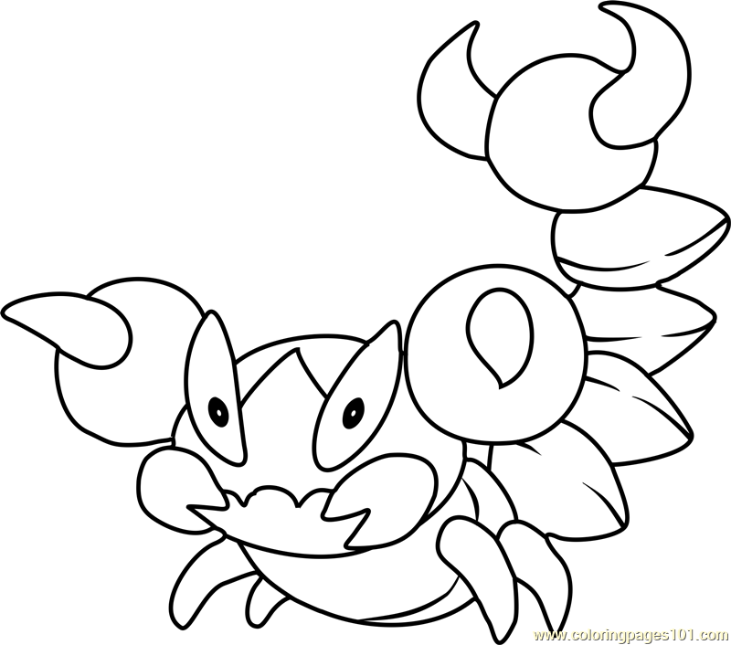 Skorupi Pokemon Coloring Page